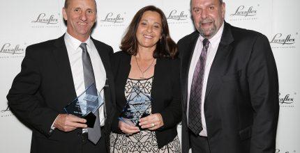 Suttle shades awarded 'Luxaflex® Showcase Alliance Dealer of the Year' 2017!